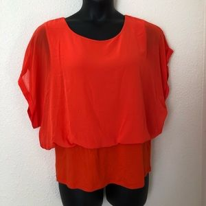 Womens Orange Blouse Joseph A Brand  Size XL